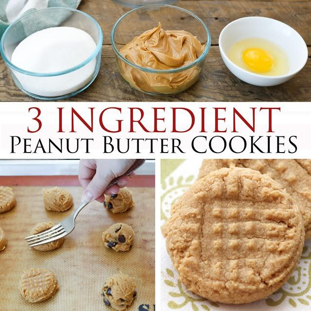 Old Fashioned 3 Ingredient PB Cookies