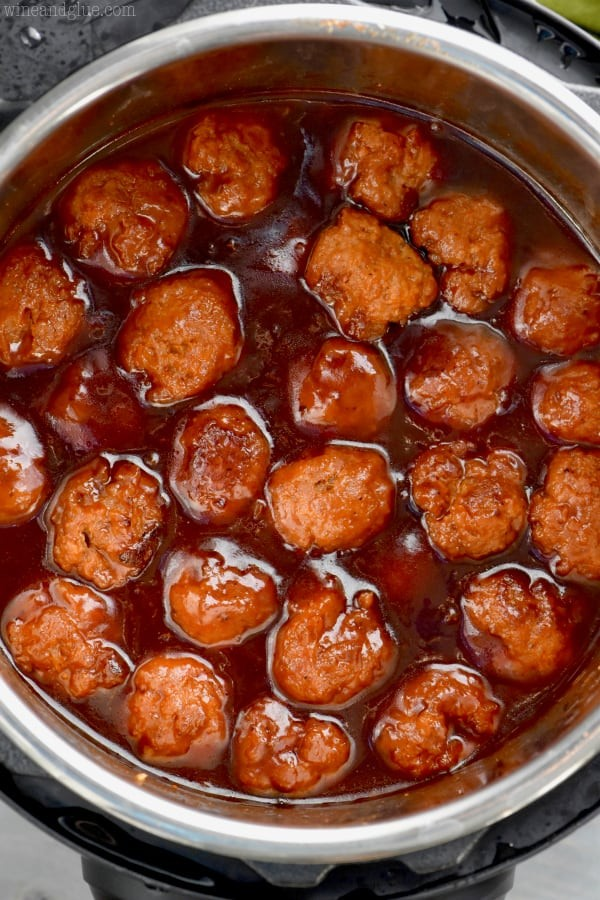 Honey BBQ Instant Pot Meatballs